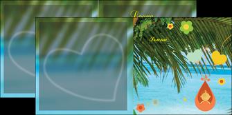 cree depliant 2 volets  4 pages  mer plage ciel bleu MLGI36038