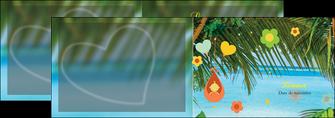 faire modele a imprimer depliant 2 volets  4 pages  mer plage ciel bleu MLGI36040