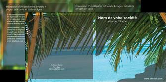 personnaliser maquette depliant 2 volets  4 pages  mer plage nature MLGI36060