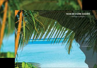 maquette en ligne a personnaliser affiche mer plage nature MLGI36072