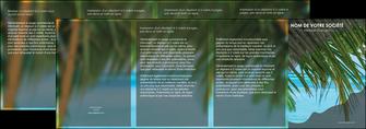 imprimerie depliant 4 volets  8 pages  mer plage nature MLGI36082