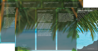 cree depliant 4 volets  8 pages  mer plage nature MLGI36088