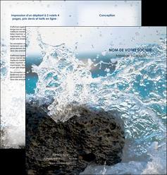 imprimerie depliant 2 volets  4 pages  mer rocher nature MLIG36210