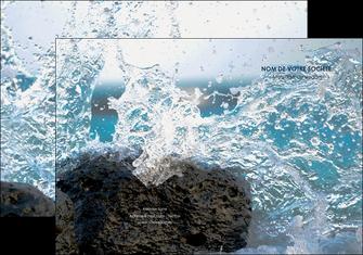 personnaliser modele de pochette a rabat mer rocher nature MLIG36232