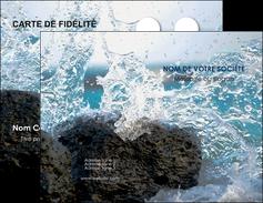 modele en ligne carte de visite mer rocher nature MLIG36236