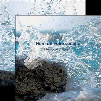 personnaliser maquette flyers mer rocher nature MLIG36240