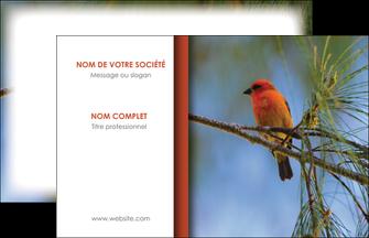 imprimer carte de visite parc oiseaux colore MLGI36296