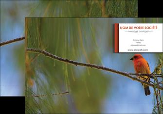 creer modele en ligne pochette a rabat parc oiseaux colore MLGI36300