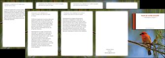 realiser depliant 4 volets  8 pages  parc oiseaux colore MLGI36306