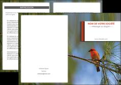 personnaliser maquette depliant 2 volets  4 pages  parc oiseaux colore MLGI36310