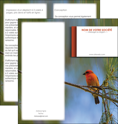 realiser depliant 2 volets  4 pages  parc oiseaux colore MLGI36312