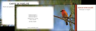 modele en ligne carte de visite parc oiseaux colore MLGI36314