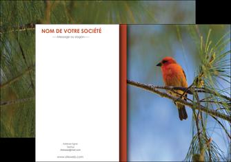 modele en ligne affiche parc oiseaux colore MLGI36316