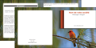 impression depliant 2 volets  4 pages  parc oiseaux colore MLGI36322