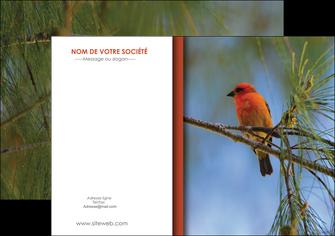 creation graphique en ligne flyers parc oiseaux colore MLGI36330