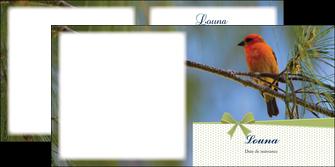 modele depliant 2 volets  4 pages  oiseau nature arbre MIF36344