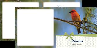 imprimerie depliant 2 volets  4 pages  oiseau nature arbre MIF36346