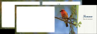 imprimerie depliant 2 volets  4 pages  oiseau nature arbre MIF36348