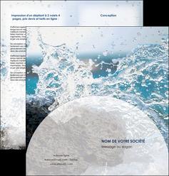 maquette en ligne a personnaliser depliant 2 volets  4 pages  eau flot mer MLGI36394