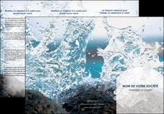 personnaliser modele de depliant 3 volets  6 pages  eau flot mer MLGI36396