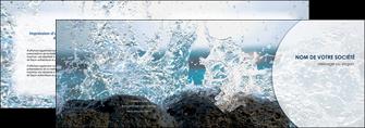 modele depliant 2 volets  4 pages  eau flot mer MLGI36410