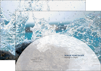 personnaliser maquette pochette a rabat eau flot mer MLGI36414