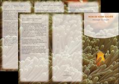 imprimer depliant 3 volets  6 pages  animal nemo macro original MLGI36424
