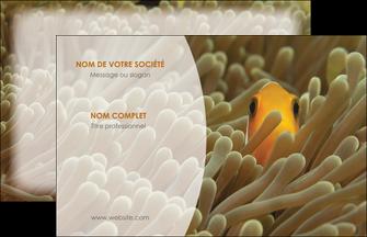 modele en ligne carte de visite animal nemo macro original MLGI36426