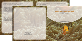 imprimerie depliant 2 volets  4 pages  animal nemo macro original MLGI36458