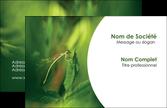maquette en ligne a personnaliser carte de visite vert libellule nature MLGI36520