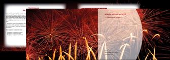 creation graphique en ligne depliant 2 volets  4 pages  14 juillet feux dartifice artificier MIS36630