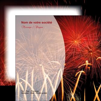 creation graphique en ligne flyers 14 juillet feux dartifice artificier MIS36646
