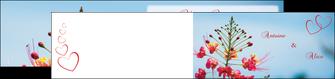 modele en ligne depliant 2 volets  4 pages  fleur heureux ciel bleu MLIG36770