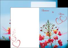 cree depliant 2 volets  4 pages  fleur heureux ciel bleu MLIG36772