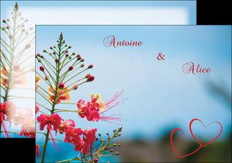 maquette en ligne a personnaliser flyers fleur heureux ciel bleu MLIG36776