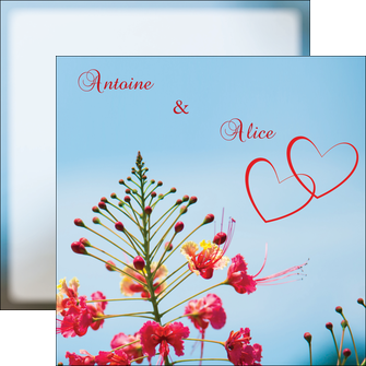 imprimerie flyers fleur heureux ciel bleu MLGI36778