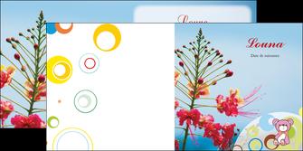 modele depliant 2 volets  4 pages  couleur fleur liberte MIF36784