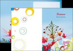 cree depliant 2 volets  4 pages  couleur fleur liberte MIF36788