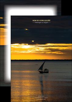 modele en ligne affiche sejours pirogue couche de soleil mer MLGI36904