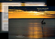 impression depliant 2 volets  4 pages  sejours pirogue couche de soleil mer MLGI36912