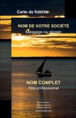 imprimer carte de visite bar et cafe et pub pirogue couche de soleil mer MLGI36922