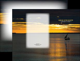 faire modele a imprimer pochette a rabat sejours pirogue couche de soleil mer MLGI36924