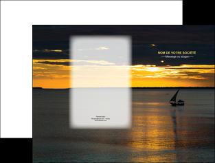 personnaliser modele de pochette a rabat sejours pirogue couche de soleil mer MLGI36926