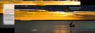 imprimerie depliant 2 volets  4 pages  sejours pirogue couche de soleil mer MLGI36928