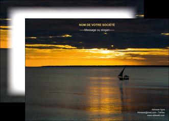 modele en ligne affiche sejours pirogue couche de soleil mer MLGI36934