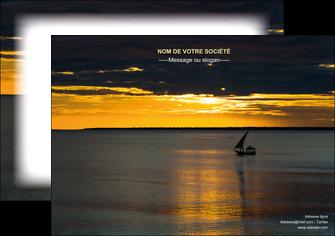 imprimerie affiche sejours pirogue couche de soleil mer MLGI36936