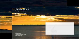 creation graphique en ligne enveloppe sejours pirogue couche de soleil mer MLGI36942