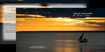 modele depliant 2 volets  4 pages  sejours pirogue couche de soleil mer MLGI36946