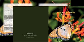 cree depliant 2 volets  4 pages  belle photo de papillon macro couleur MLGI36980