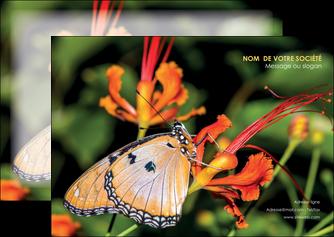 maquette en ligne a personnaliser flyers belle photo de papillon macro couleur MLGI36982
